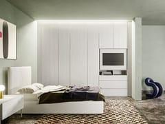 Armadio a muro con pannello porta TV orientabile integratoALTERNA SM2009 | Armadio - ZALF