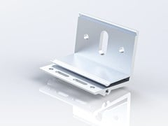 """Staffa ad """"L"""" ricavata da estrusione di alluminioALX 60 - REDCIRCLE"""