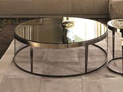 Tavolino rotondo in vetro a specchio AMADEUS | Tavolino in vetro a specchio - Loveluxe