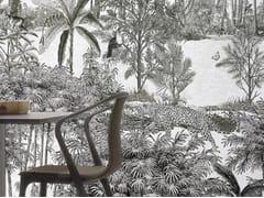 Carta da parati panoramica in carta non tessuta AMAZONE PANTHERE - Naturels