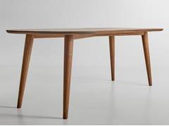 Tavolo da pranzo rettangolare in legno massello AMBIO | Tavolo da pranzo - Ambio