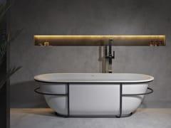 RILUXA, AMSTERDAM Vasca da bagno centro stanza ovale in Solid Surface