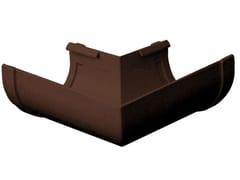 Angolare unico bi-system per canale di gronda in PVC marroneAN100M - FIRST CORPORATION