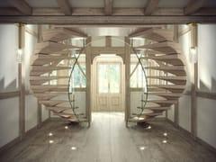 Scala a sbalzo in legno masselloANACONDA | Scala a sbalzo in legno massello - SILLER TREPPEN