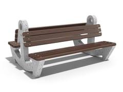 Panchina in calcestruzzo e legno con schienaleANCHOR - ENCHO ENCHEV - ETE