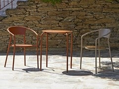 Sedia da giardino da ristorante in metallo con braccioliANDALUZA - ADICO