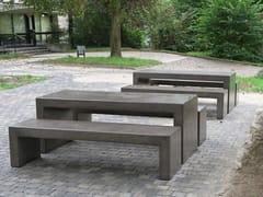 Tavolo per spazi pubblici rettangolare in calcestruzzoANDROMEDA | Tavolo per spazi pubblici - CALZOLARI