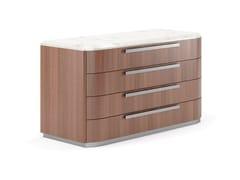 Cassettiera in legno con piano in marmoANDY - SM DIVANI GROUP