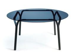 Tavolo rotondo in alluminio e vetroANGEL   Tavolo - ROCHE BOBOIS