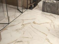 Pavimento/rivestimento in gres porcellanato effetto marmoANIMA FUTURA GOLDEN WHITE - CERAMICHE CAESAR