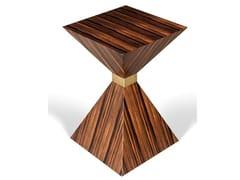 Tavolino alto quadrato in legno impiallacciatoANNE - SALMA FURNITURE