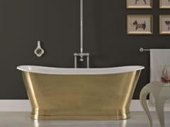 BLEU PROVENCE, ANTICA BRASS Vasca da bagno centro stanza in ottone