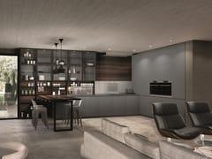 Cucina componibile laccata con penisola ANTIS | Cucina in alluminio -