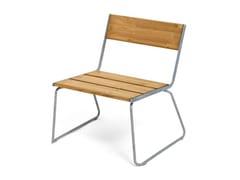 Seduta da esterni in acciaio e legnoAPRIL GO LOUNGE CHAIR - VESTRE