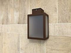 Lampada da parete per esterno a luce diretta in acciaio con vernice epossidicaAPS 030   Applique per esterno ad energia solare - ARALIA - LYX-LUMINAIRES