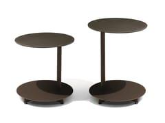 Tavolino da giardino di servizio rotondo in acciaio APSARA   Tavolino rotondo - Apsara