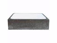 Lavabo rettangolare in pietra lavica AQ1 - Aqua