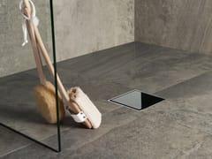 Scarico per doccia in acciaio e vetroAQUA JEWELS QUATTRO   Scarico per doccia in vetro - EASY SANITARY SOLUTIONS