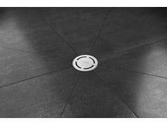 Scarico per doccia in acciaio inoxAQUA ROUND - EASY SANITARY SOLUTIONS