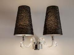 Lampada da parete a luce diretta e indiretta in cristallo con braccio fisso ARABIAN PEARLS W2 - Arabian Pearls
