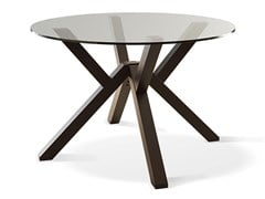 Tavolo rotondo in legno e vetroARAGON - FEBAL CASA BY COLOMBINI GROUP