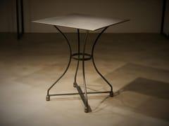 Tavolo quadrato in ferro battutoARC 4 - DADRA