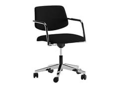 Sedia ufficio imbottita in tessuto a 5 razze ad altezza regolabileARCADE | Sedia ufficio a 5 razze - ERSA MOBILYA