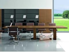Tavolo da riunione rettangolare in noceARCHE | Tavolo da riunione in noce - BRALCO
