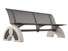 Panchina in acciaio con schienaleARCO | Panchina con schienale - LAZZARI SRL
