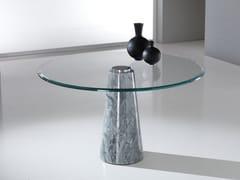 Tavolo rotondo con base in Crystal Stone® e top in cristalloARES - BALLARINI