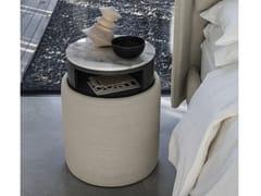 Pouf / comodino in tessutoARES   Pouf rotondo - BOLZAN LETTI