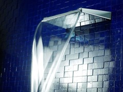 Bocca di erogazione a cascata in ottone a muroARETHUSA | Bocca di erogazione a cascata - TECH RAIN
