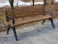 Panchina in legno con schienaleARIA | Panchina in legno - PUNTO DESIGN