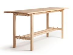 Tavolo alto da giardino rettangolare in rovereARKIPELAGO KVBP10/KVBP10T - NIKARI