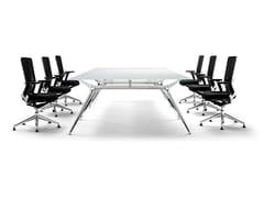Tavolo da riunione rettangolare in vetroARKITEK | Tavolo da riunione rettangolare - ACTIU