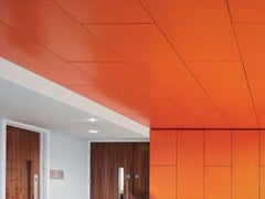Pannelli per controsoffitto in metalloARMSTRONG METAL RECTANGULAR HOOK-ON - KNAUF AMF ITALIA
