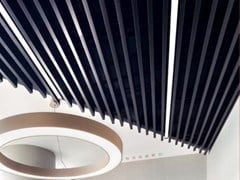 Baffle acustici in metalloARMSTRONG METAL V-P 500 / METAL V-500 - KNAUF CEILINGS SOLUTIONS