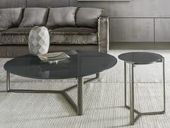 Tavolo alto in vetro con struttura in metalloARNE | Tavolino alto - CASAMILANO