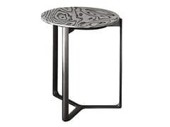 Tavolino alto rotondo in legno con struttura in metalloARNE | Tavolino - CASAMILANO