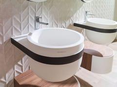 Lavabo rotondo sospeso in Krion® ARO | Lavabo sospeso - Aro