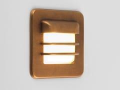 Segnapasso a LED a parete in ottone per esterniARRAN SQUARE - ASTRO LIGHTING
