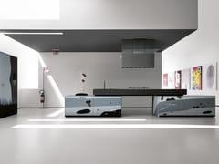 Cucina componibile in vetro decorato ARTEMATICA VITRUM ARTE - NATURA B&N - Artematica