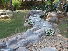 Fontana in vetroresina con cascataRUSCELLI ARTIFICIALI - ARTMAN ITALIANA