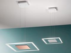 Lampada a sospensione a LED in acciaio e vetroARUBA   Lampada a sospensione - LINEA LIGHT GROUP