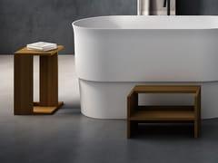 Agape, ASCENSION Sgabello per bagno / scaletta in legno massello