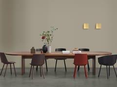 Tavolo ovale in legno massello ASHIDA | Tavolo ovale -