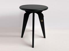 Sgabello/Tavolino in frassino con dettagli in metalloASSY | Tavolino in frassino - MADEMOISELLE JO