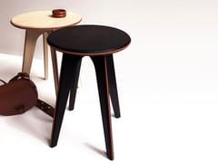 Sgabello/Tavolino in frassino con dettagli in pelleASSY | Tavolino in stile moderno - MADEMOISELLE JO