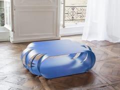 Tavolino basso laccato in acciaio ASYMETRIC   Tavolino basso -