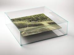 Tavolino quadrato in marmo e vetroAT SWIM - TWO - TABLES - CLASTE